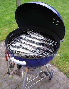 Makrelen op de barbecue