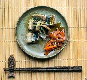 Gestoofde makreel en wortel, Japanse recepten