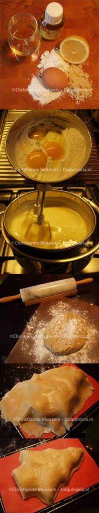 Marsepein: ingrediënten - bereiding1 - bereiding2 - uitrollen - bedekken - bijsnijden