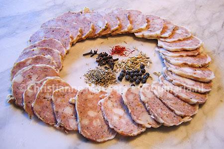 Mortadella van kalfsvlees uit de vijftiende eeuw