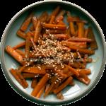 Zoete gestoofde wortel