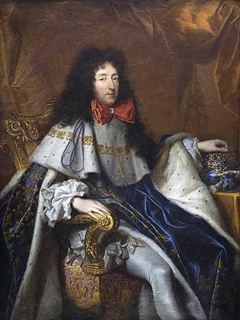 Philippe, hertog van Orléans. Portret door Pierre Mignard, 4de kwart 17de eeuw. Bordeaux, Musée des Beaux-Arts. Bron Wikimedia