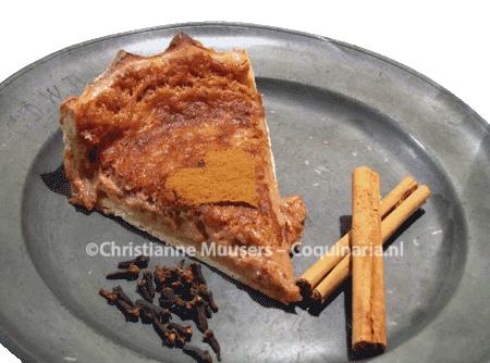 Plum pie from the 17th century