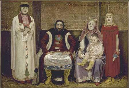 Portrait of a Moscovite tradesman in the 17th century, by Andrei Ryabushkin (1896)