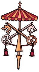 The heraldic weapon of the pope when there is none, 'Sede vacante'