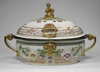 An 18th-century soup terrine, once owned by czarina Anna Ivanovna