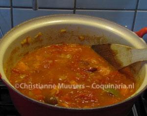 De soep voor het pureren