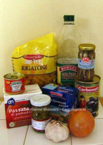 Alle ingrediënten komen uit de voorraadkast