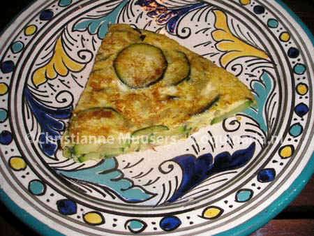 Tortilla met courgettes