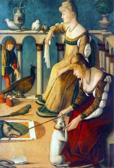 Twee Venetiaanse dames (ca 1510), Vittore Carpaccio