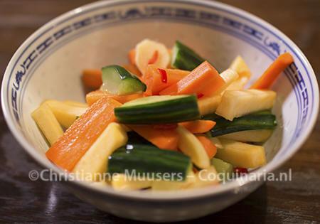 Chinese zoetzure groenten