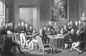 The Congress of Vienna in 1815, consolidating the division of Poland