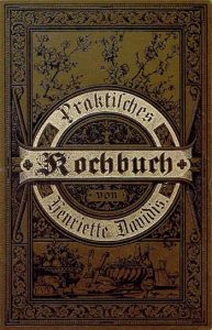 Cover of the Praktisches Kochbuch from 1896