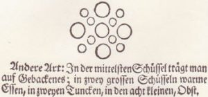 Example from the Leipziger Kochbuch of the laying of a round table