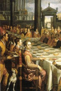 Domenico Crespi Passignano, Marriage banquet of Ferdinand I de Medici and Christina of Lotharingen