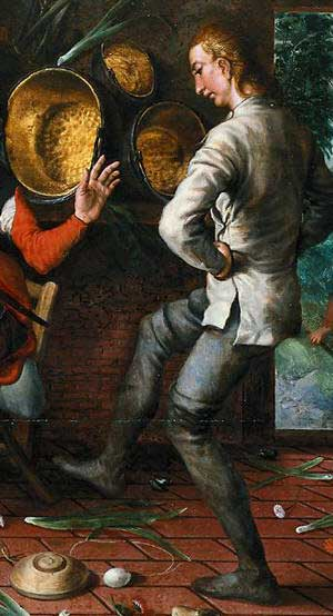 Detail from the Eierdans ('Egg dance') from Pieter Aertsen (1552), Rijksmuseum, Amsterdam