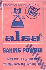 Alsa, French baking powder (levure alsacienne)