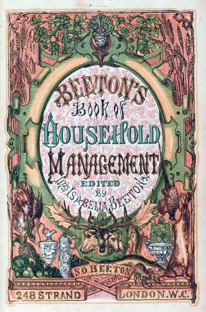 Titelpagina van het kookboek van Mrs Beeton (bron: Wikimedia)