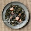 Kale with chestnuts and groats