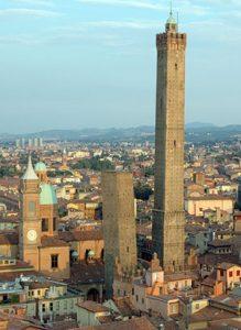 Blik op de stad Bologna