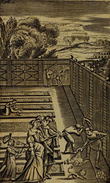 De moestuin in de 'Jardinier François' van Nicolas de Bonnefons uit 1651