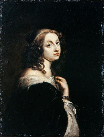 Christina I van Zweden. Portret ca 1650 door David Beck. Bron: Wikimedia.
