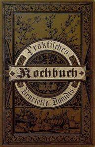 Voorkant van het Praktisches Kochbuch uit 1896