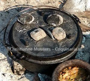 De boerenkool heb ik ook in de moderne versie van de 'toertpanne' bereid.