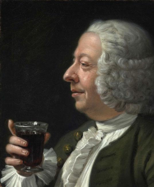 Franz Lactanz zu Firmian (1712-1786), Man met rode wijn. Bron: Wikimedia.