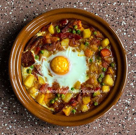Huevos alla flamenca ofwel zigeuner-eieren
