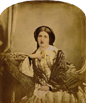 Portrait of Isabella Beeton, 1856 (source Wikimedia)