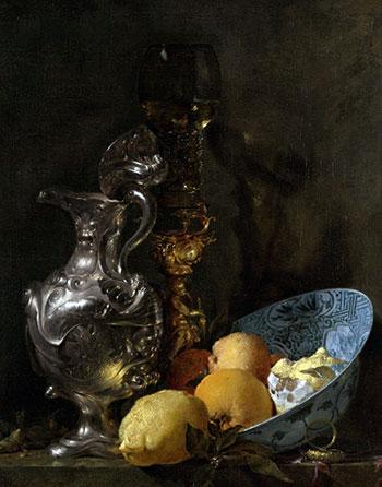 Willem Kalf, Still life (1655-1660, Rijksmuseum SK-A-199,14)
