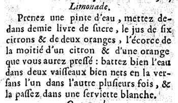 The original recipe of 'Limonade'