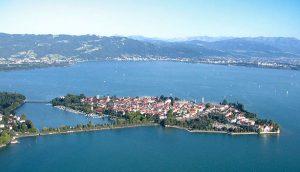 Het plaatsje Lindau in de Bodensee