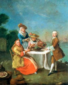 Tossing salad (Pietro Longhi, 1759)