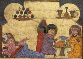 Miniature in a medieval Arab manuscript