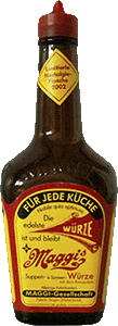 An old bottle of Maggi sauce