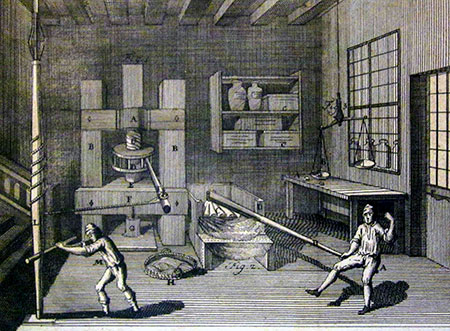 The production of pasta in the 18th century (Malouin)