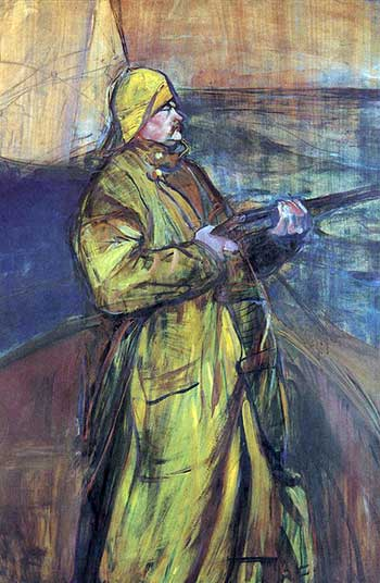 'Maurice Joyant in the Bay of the Somme', by Henri de Toulouse-Lautrec, 1900