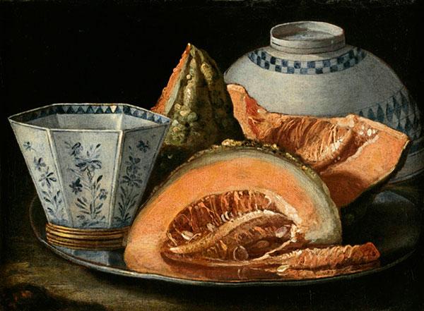Cristoforo Munari (1667-1720), Stilleven met meloen. Privécollectie. Bron: wikimedia.