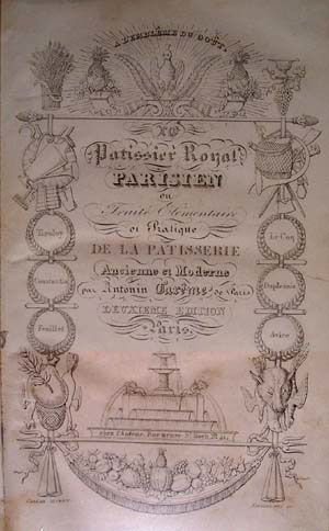 Title page of the 2nd edition of 'Le Pâtissier Royal'