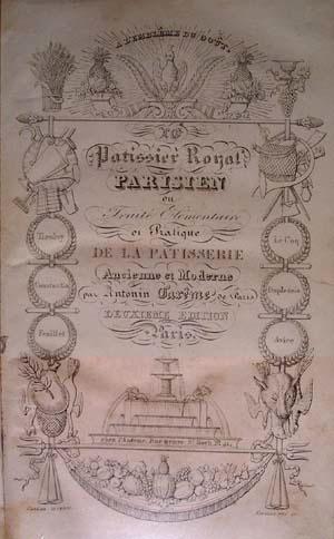 Titelblad van de 2de editie van 'Le Pâtissier Royal'