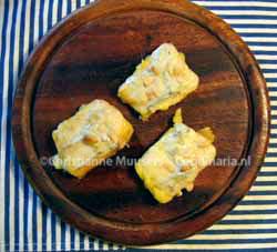 Polenta gegratineerd met gorgonzola
