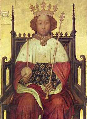 Portrait of koning Richard II (ca 1395) (Westminster Abbey)