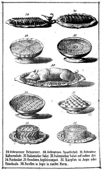 Illustration from the Lindauer Kochbuch from C.C. Riedl