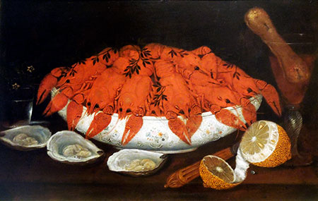 Schaal met rivierkreeften, ca 1760. Johann Seitz (1738-1816)