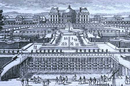 The chateau Vaux-le-Vicomte