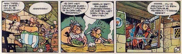 'Groene saus' in Asterix en de Britten