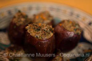 Gevulde aubergines van Scappi