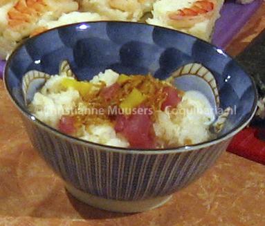 Chirasi-zushi ofwel 'gespreide sushi'